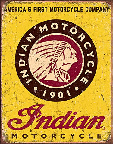 Indian Motorcycle Since 1901 Vintage Metal Sign