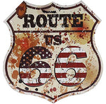 Route 66 Retro Vintage Metal Sign 12""
