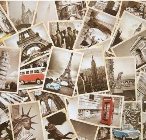 32 Set Vintage Retro Old Travel Postcards - UniqueVintages