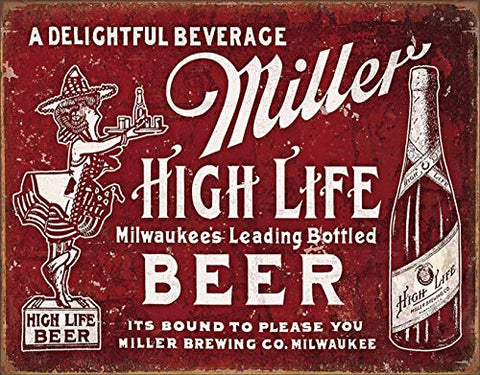 Miller High Life Beer Tin Sign