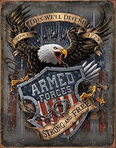 Armed Forces Since 1775 Metal Sign 16""