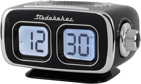 Large Display LCD AM/FM Retro Clock Radio USB Bluetooth