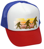 Sasquatch Walking Funny Retro Cap