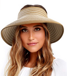 Retro style straw hats UV UPF