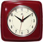 Square Silent Retro 9 inch Wall Clock
