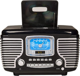 Retro Tabletop Bluetooth Radio/CD/Clock