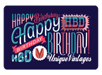 Happy Birthday E-Gift Card - UniqueVintages