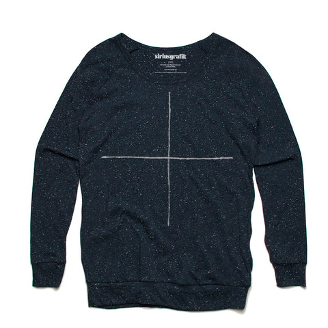 Simple Cross | Navy Pullover