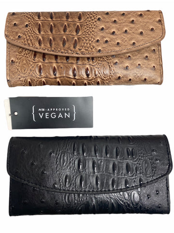 VEGAN OSTRICH LEATHER WALLETS