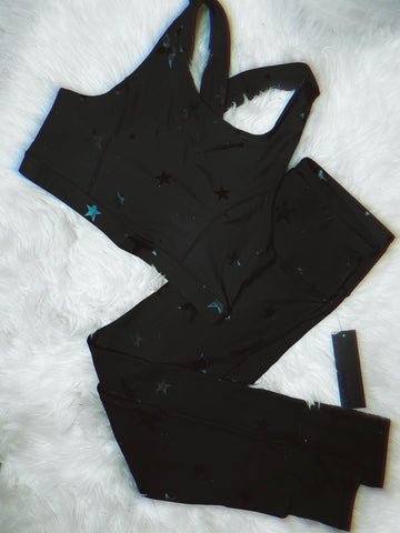 1X-3X BLACK STAR LEGGINGS + BRA