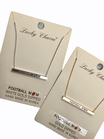 FOOTBALL MOM GOLD DIPPED NECKLACE