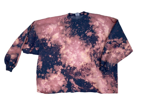 PREORDER: COTTON CANDY CUSTOM ACID WASHED SWEATSHIRT