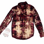RED ACID WASHED FLANNEL