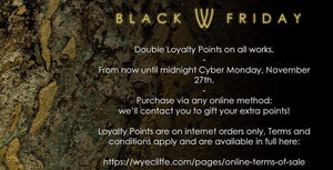 Black Friday Has Started - Double Loyalty Points