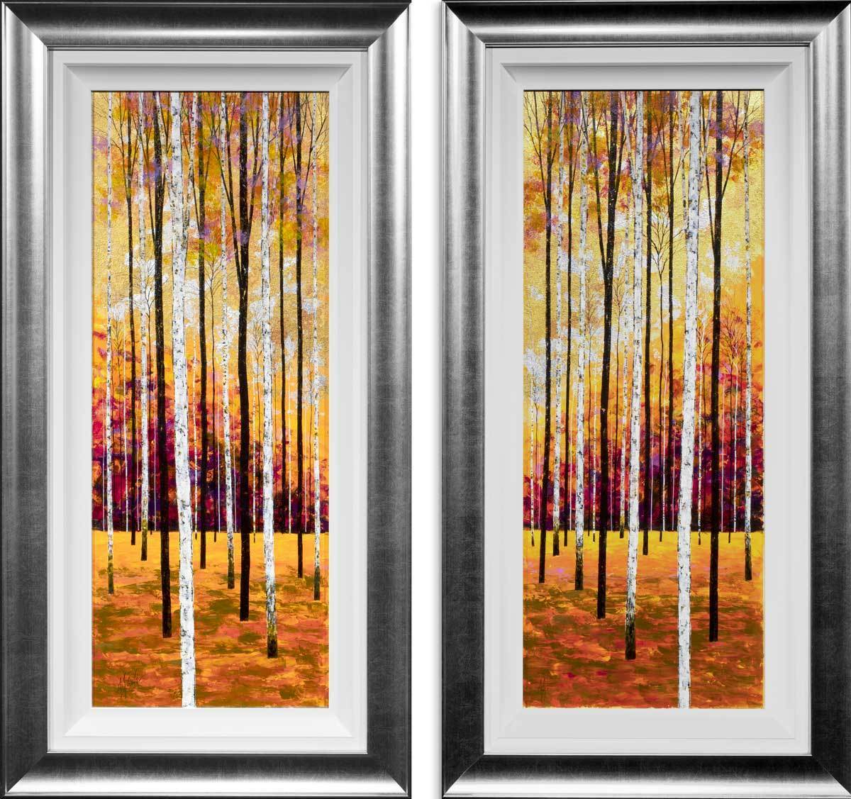 Into the Forest - Diptych Original Alex Jawdokimov Framed