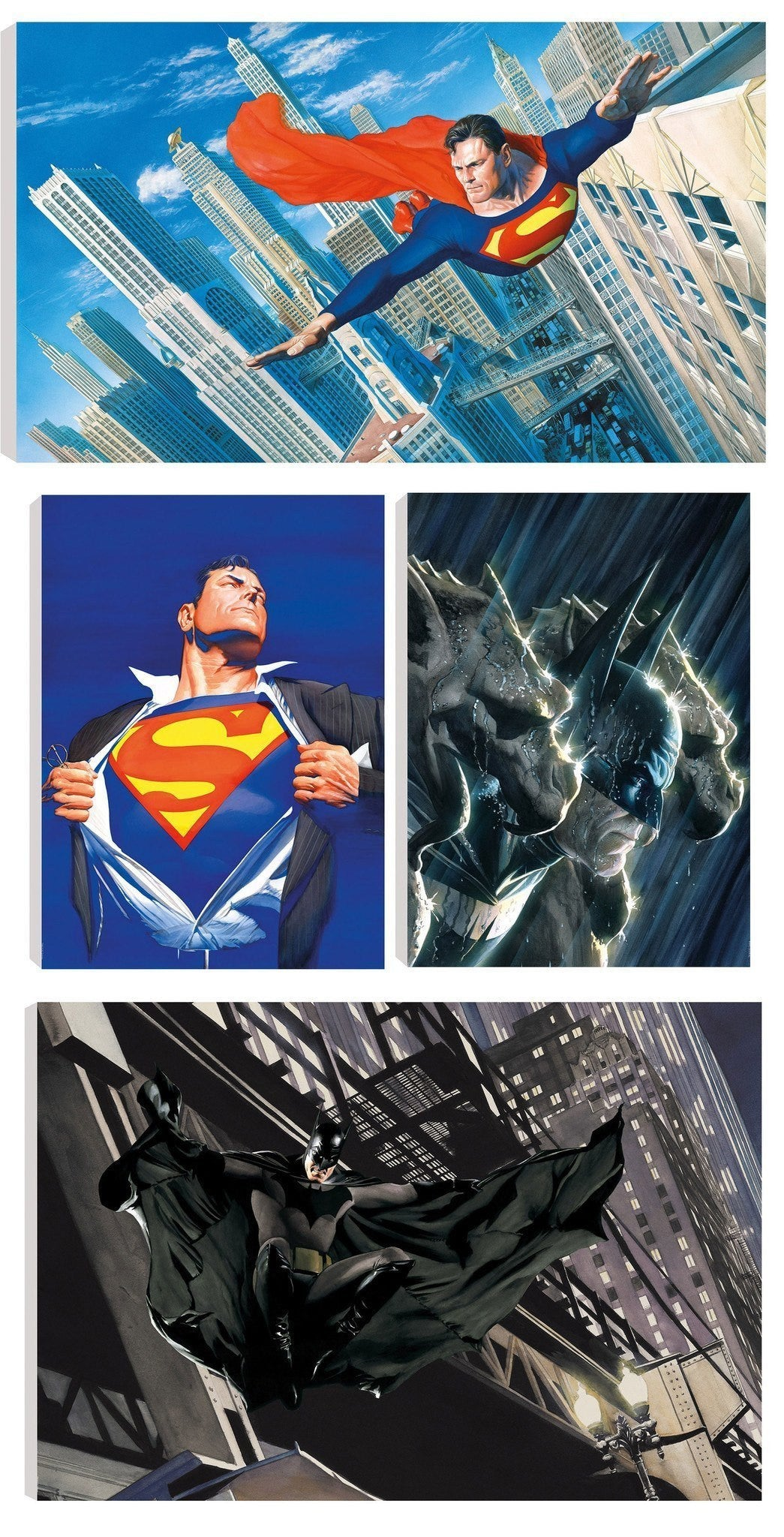 Portfolio of Four DC Comic Prints by Alex Ross - Canvas Alex Ross