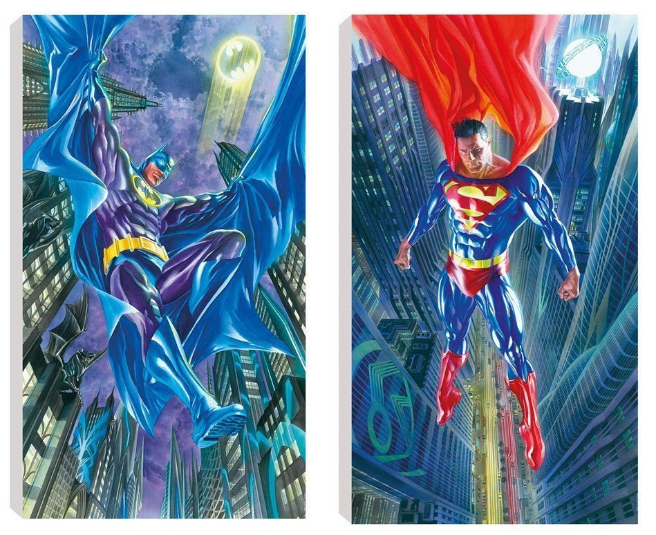 Suite of Two DC Comic Prints by Alex Ross - Canvas Alex Ross