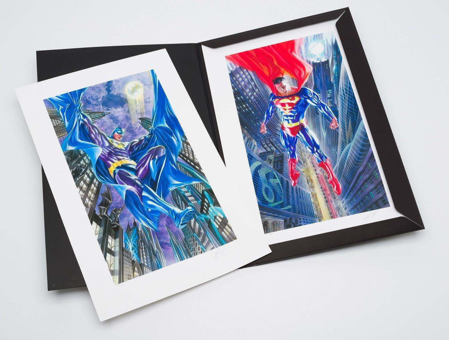 Suite of Two DC Comic Prints by Alex Ross - Giclée on Paper Alex Ross