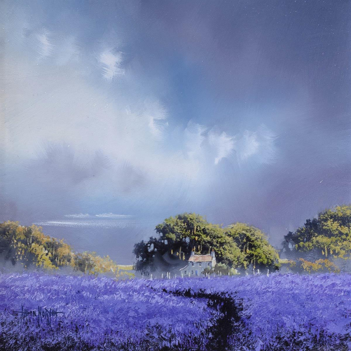 Lavender Season - Original Allan Morgan Framed