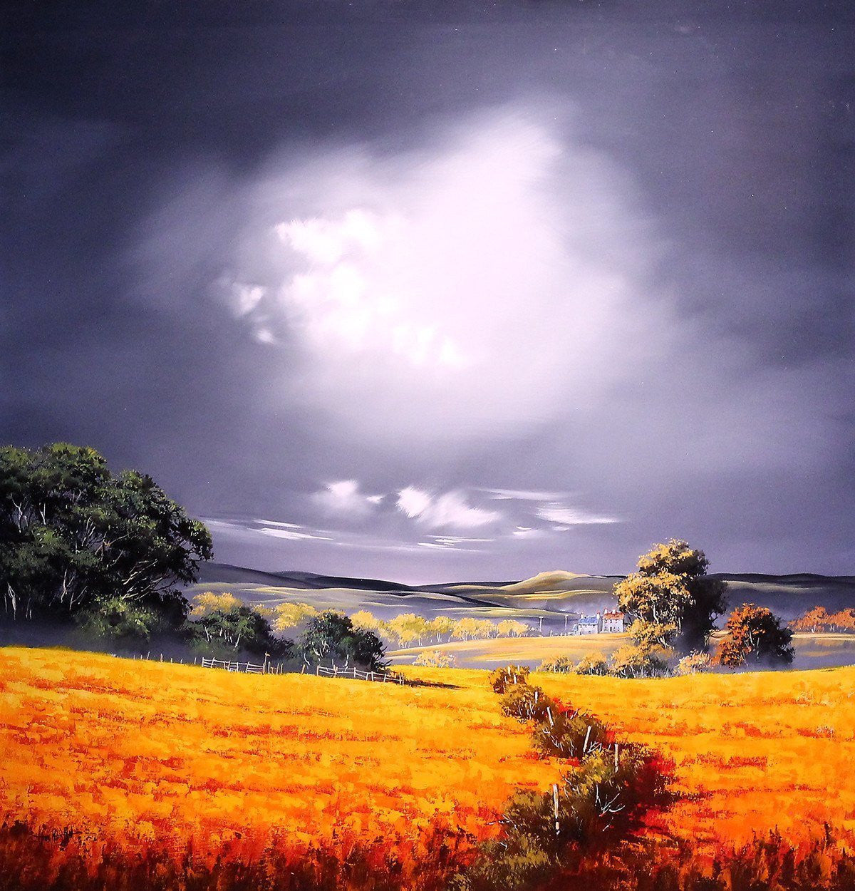 Over the Fields - SOLD Allan Morgan