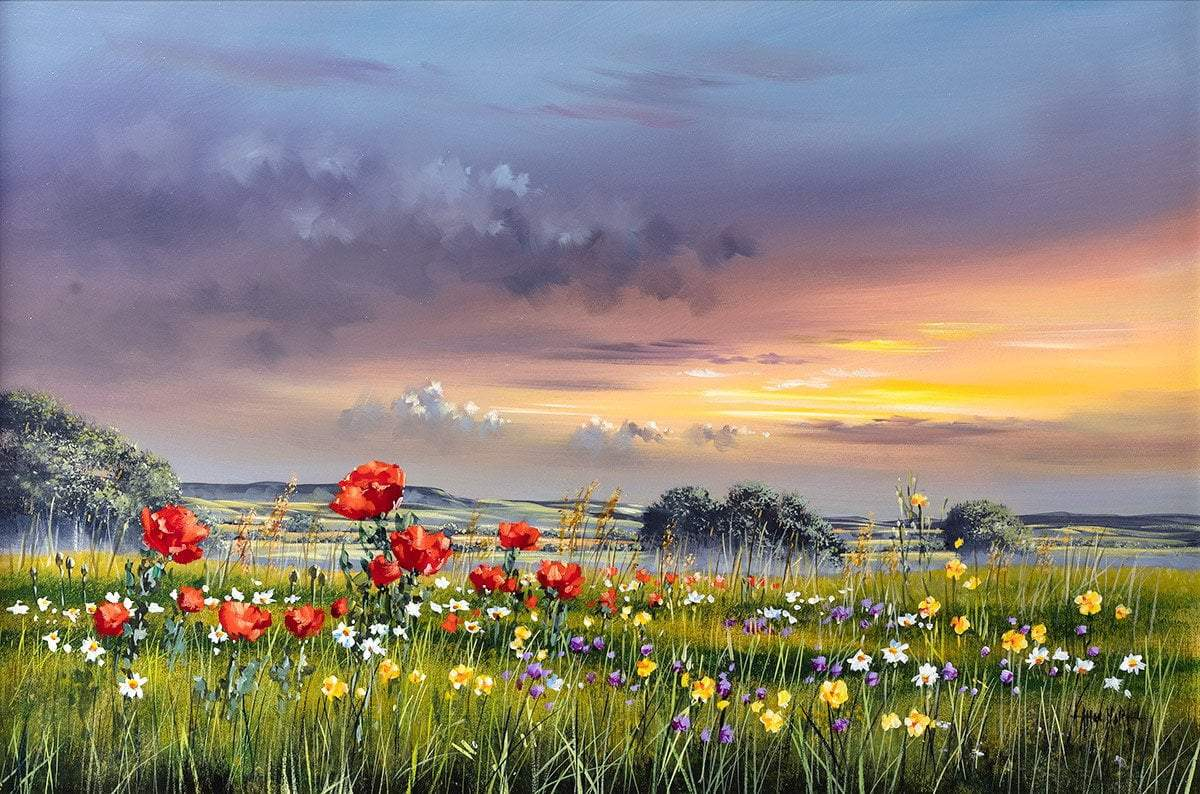 Poppies at Dusk - Original - SOLD