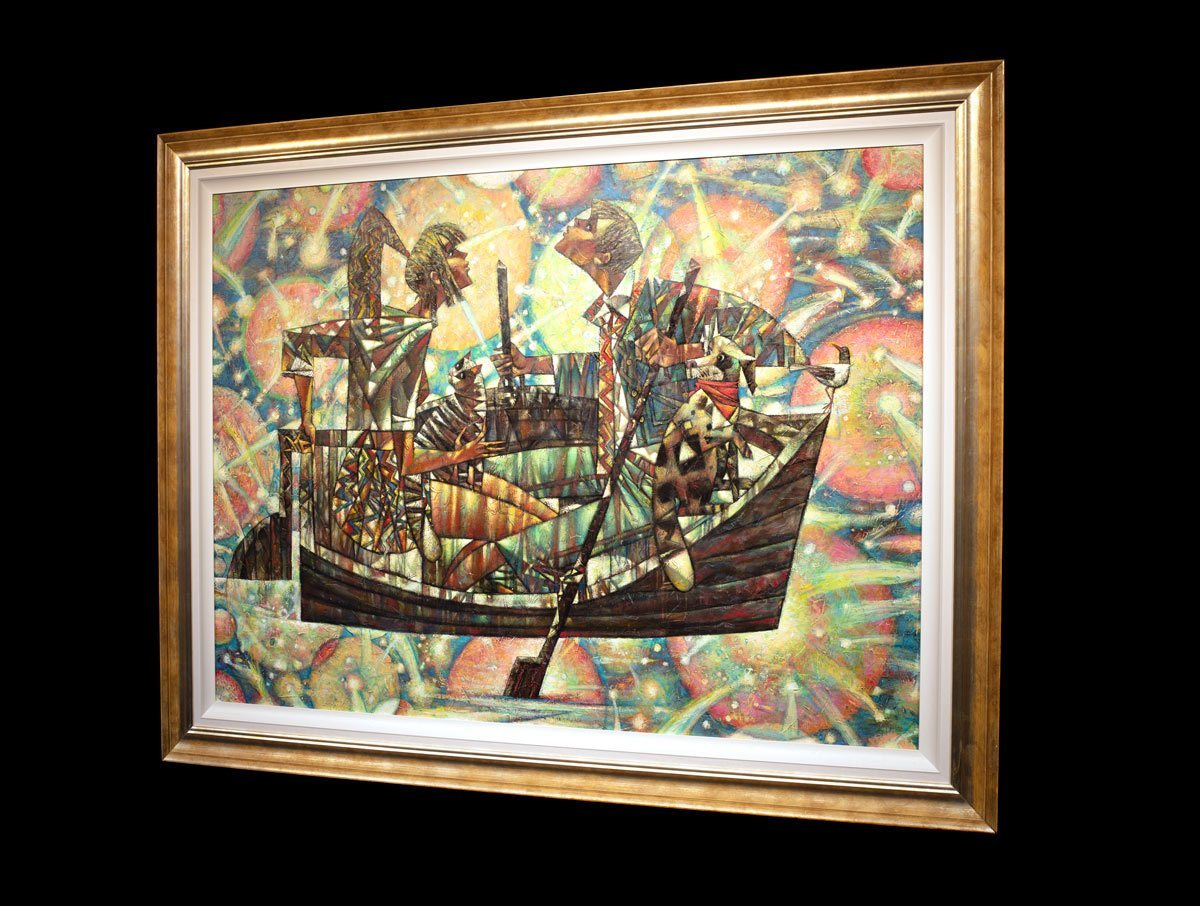 Glowing in the Dark - Original Andrei Protsouk Framed
