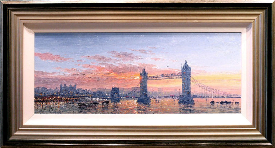Sunshine Sparkle Across Tower Bridge - SOLD Andrew Grant Kurtis