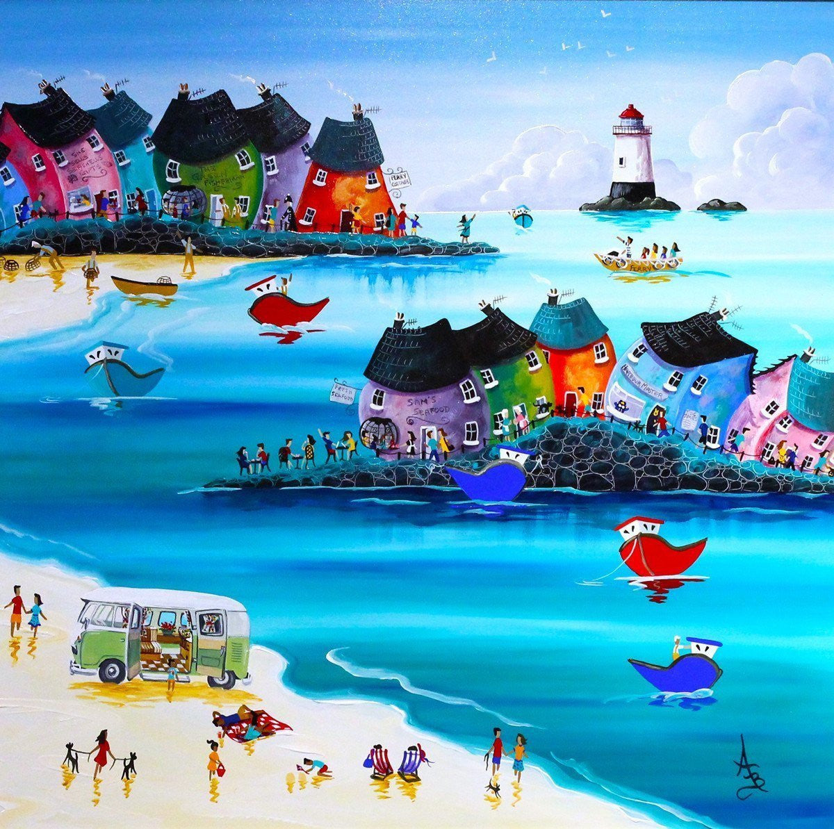 Camping on the Beach - SOLD Anne Blundell