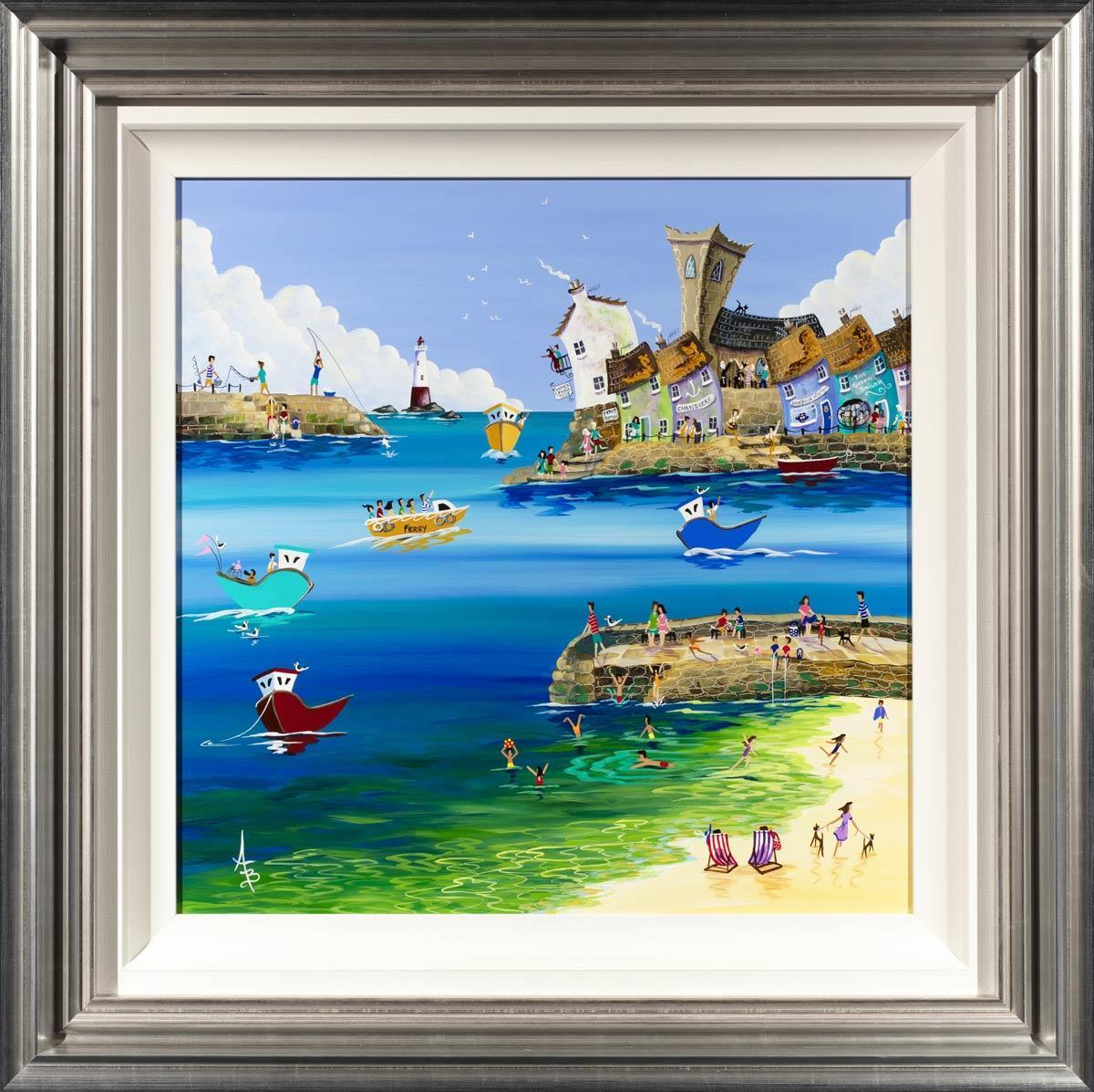 Crab Quay Pickers - Original Anne Blundell Framed