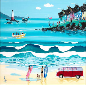 Great Day For A Surf - Original Anne Blundell