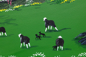 Herdwicks Among the Flowers - Original - SOLD