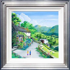 On The Trout Beck Garden Trail - Original Anne Blundell Framed