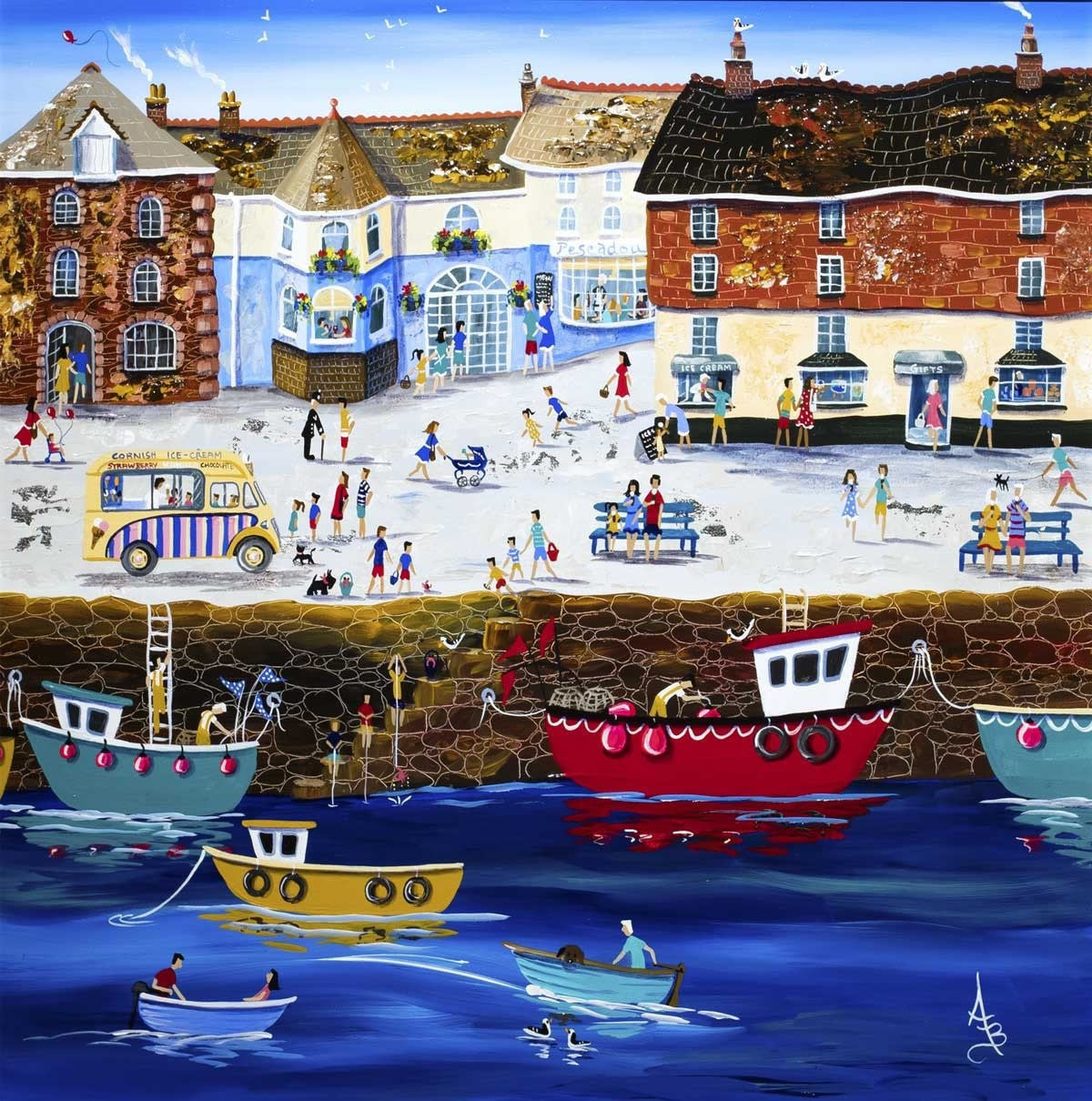 Padstow Summer - SOLD Anne Blundell