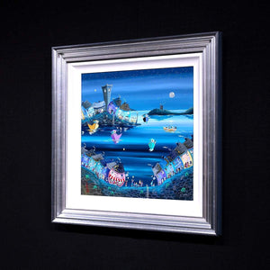 Party at the Prawn - Original Anne Blundell Framed