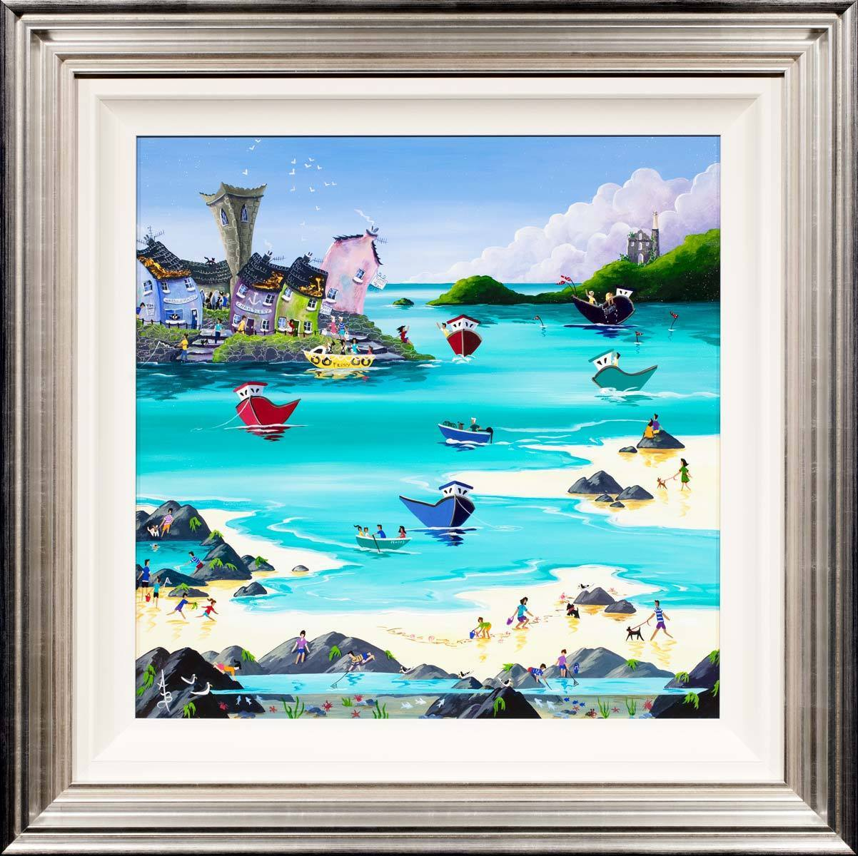 Rock Pool Treasure - Original Anne Blundell Framed
