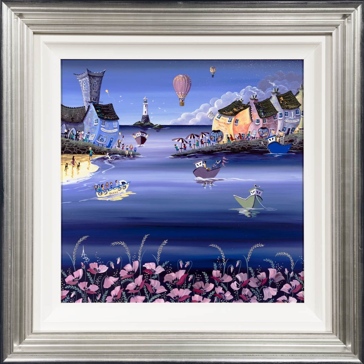 Seaside Poppies and Balloons by Anne Blundell Anne Blundell