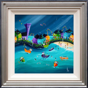 Stormy Skies and Salty Seadogs Anne Blundell Framed
