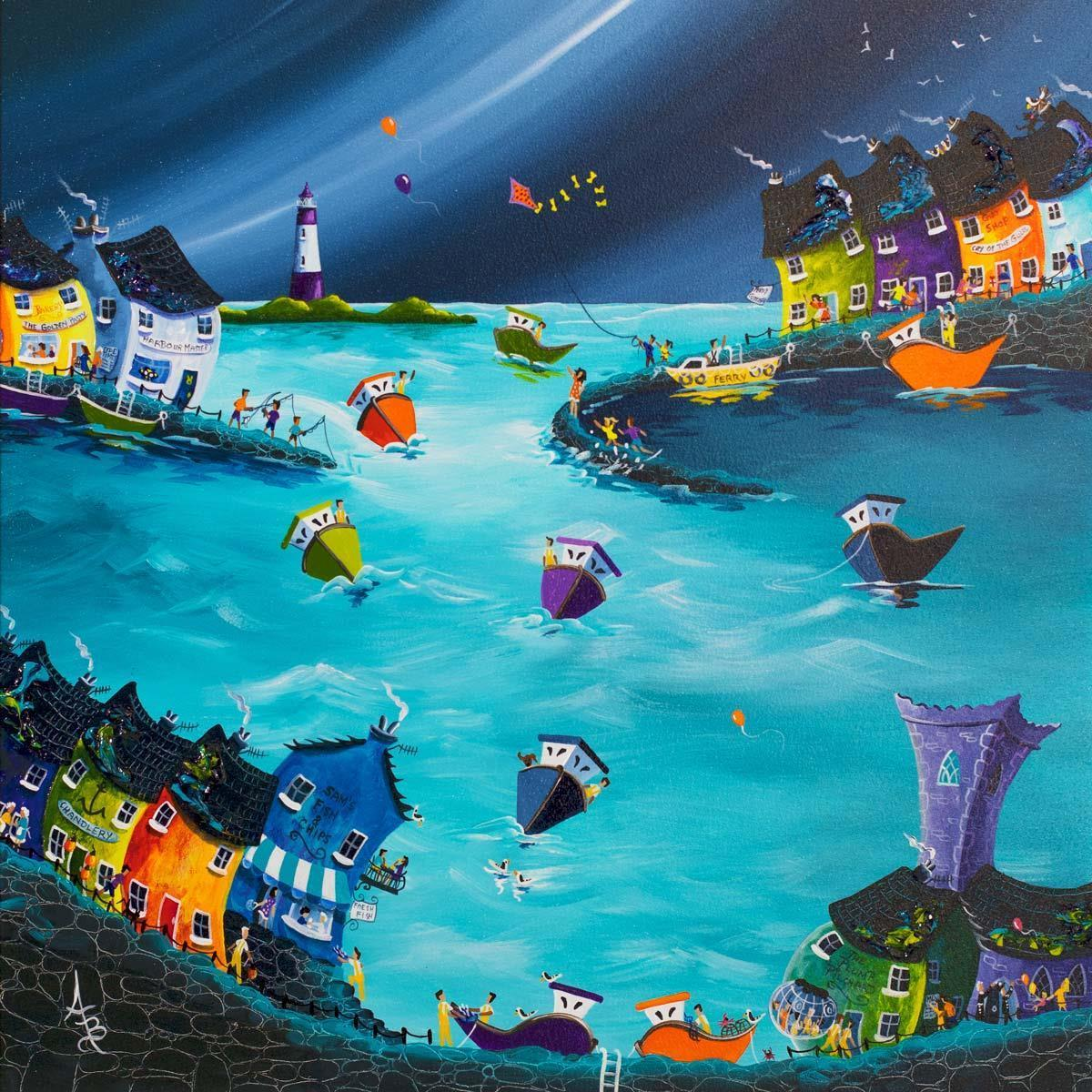 Stormy Skies Safe Harbour - Original Anne Blundell