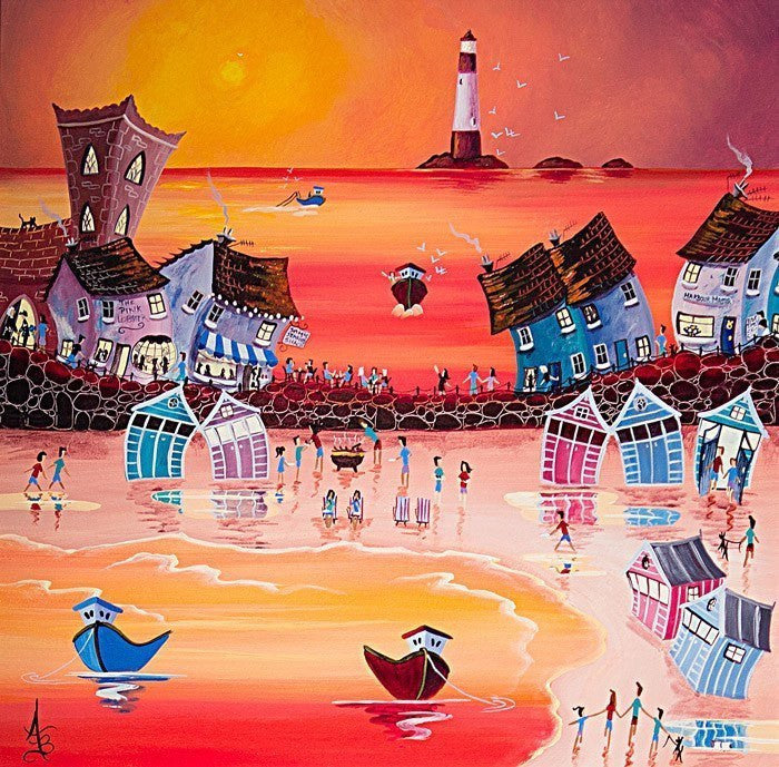 Sunset Beach Barbeque - SOLD Anne Blundell