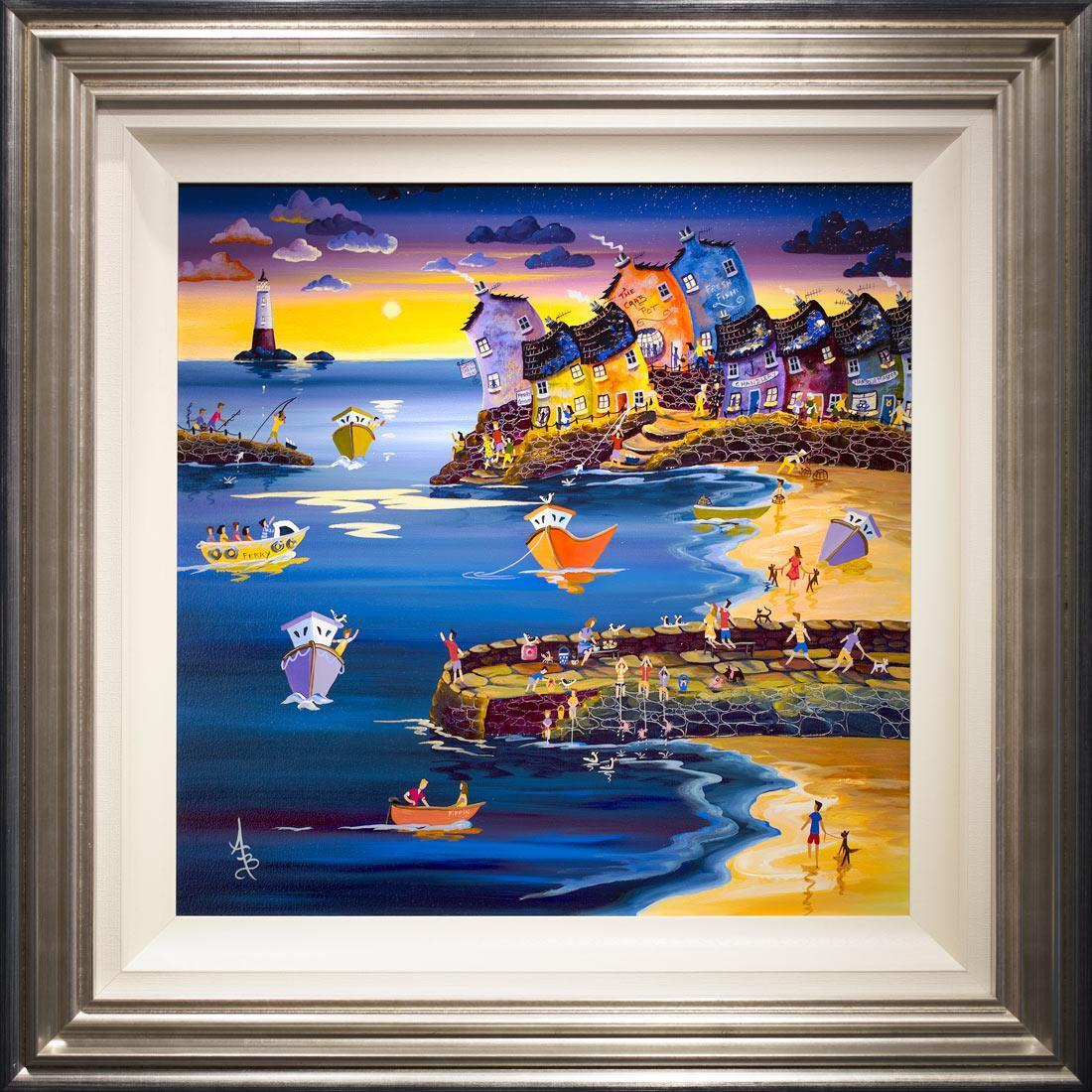Sunset Over Crab Quay - Original Anne Blundell
