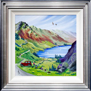 The Perfect Spot - Original Anne Blundell Framed