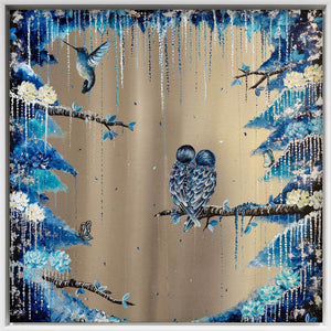 Fluttering Feathers Becky Smith Framed