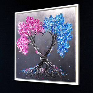 Intertwined Love - Original Becky Smith Framed
