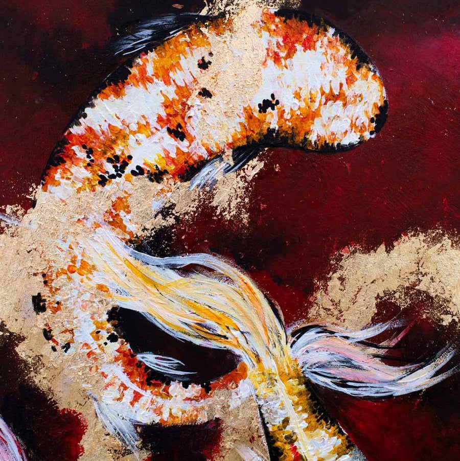 Koi - Original Becky Smith Framed