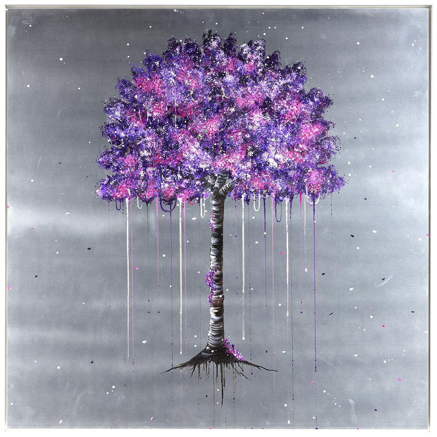 Violet Bloom - Original - SOLD Becky Smith Framed