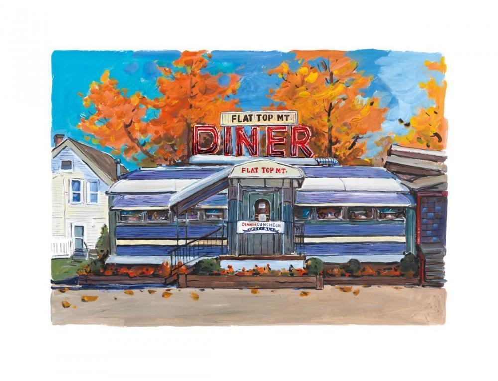 Flat Top Mt. Diner, Tennessee - 2017 - SOLD Bob Dylan