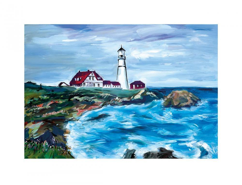Lighthouse in Maine - 2017 - SOLD Bob Dylan