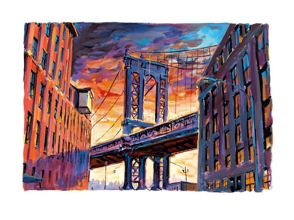 Manhattan Bridge, Downtown New York - 2017 - SOLD Bob Dylan