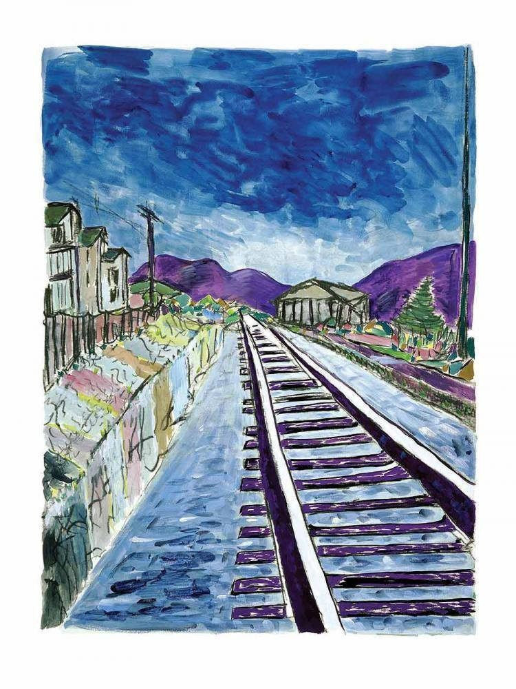 Train Tracks (Large), 2013 - SOLD Bob Dylan