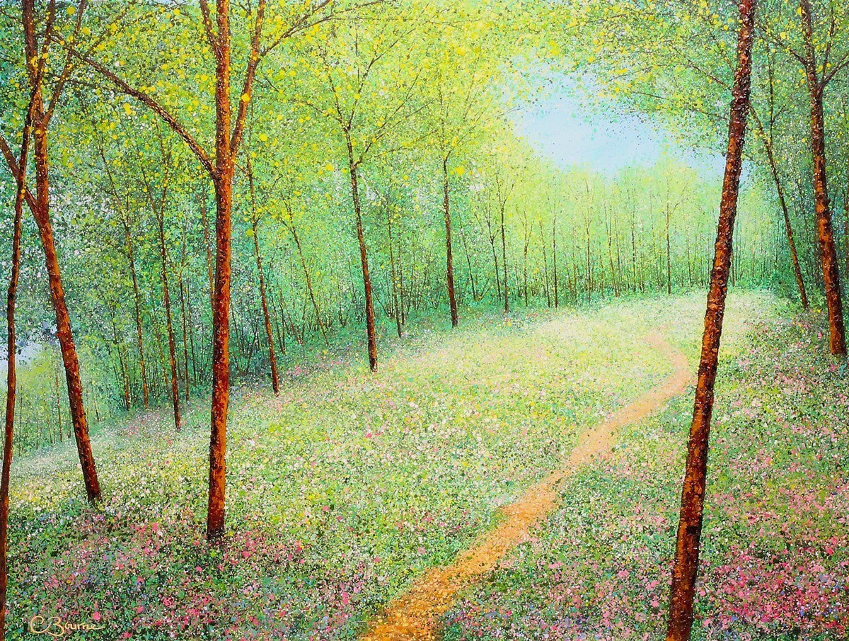 Summer Woodland II - SOLD Chris Bourne
